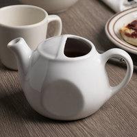 Tuxton BWT-1601 DuraTux 16 oz. Bright White Lidless China Tea Pot - 12/Case