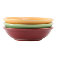 Tuxton DYD-045G DuraTux 5.5 oz. China Sauce Dish, Assorted Colors - 36/Case