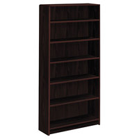 HON 1896N 1890 Series Mahogany 6 Shelf Laminate Wood Bookcase - 36 inch x 11 1/2 inch x 72 5/8 inch