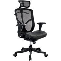 Eurotech Seating FUZ6B-HI Fuzion Black Basic Mesh High Back Swivel Office Chair with Head Rest