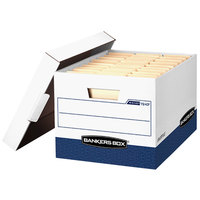 Banker's Box 07243 R-Kive 16 1/2 inch X 12 3/4 inch x 10 3/8 inch White Letter / Legal Sized File Storage Box with Lift-Off Lid - 12/Case