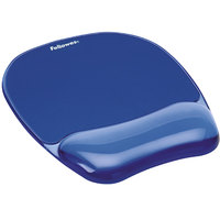 Fellowes 91141 Blue Gel Crystals Mouse Pad with Wrist Support