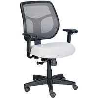 Eurotech Seating MT9400-5882 Apollo Silver Dove Fabric / Mesh Mid Back Swivel Tilt Office Chair