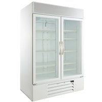 Beverage-Air MMR49HC-1-W MarketMax 52 inch White Refrigerated Glass Door Merchandiser with LED Lighting