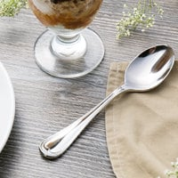 Reed & Barton RB112-002 Chestnut Hill 6 5/8 inch 18/10 Stainless Steel Extra Heavy Weight Dessert Spoon - 12/Case