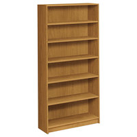 HON 1876C 1870 Series Harvest 6 Shelf Laminate Wood Bookcase - 36 inch x 11 1/2 inch x 72 5/8 inch