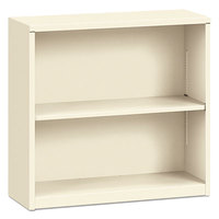 HON S30ABCL Putty 2 Shelf Metal Bookcase - 34 1/2 inch x 12 5/8 inch x 29 inch