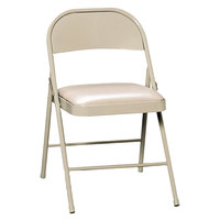 HON FC02LBG Light Beige Steel Folding Chair with Padded Seat - 4/Pack
