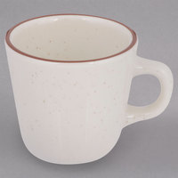 Tuxton TBS-001 Bahamas 7 oz. Brown Speckle Tall China Cup - 36/Case