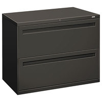 HON 782LS 700 Series 36 inch x 19 1/4 inch x 28 3/8 inch Charcoal Two-Drawer Metal Lateral File Cabinet - Legal/Letter