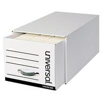 Universal UNV85300 12 1/2 inch x 23 1/2 inch x 10 1/4 inch Letter File Fiberboard Storage Drawer - 6/Case