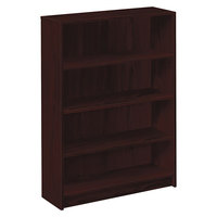 HON 1874N 1870 Series Mahogany 4 Shelf Laminate Wood Bookcase - 36 inch x 11 1/2 inch x 48 3/4 inch