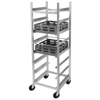 Channel GRR-6 10 Shelf Glass Rack Cart with 6 inch Spacing