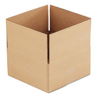 12 inch x 12 inch x 6 inch Kraft Shipping Box - 25/Bundle