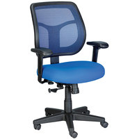 Eurotech Seating MT9400-5802 Apollo Blue Dove Fabric / Mesh Mid Back Swivel Tilt Office Chair