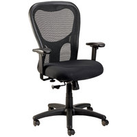 Eurotech Seating MM9500-5806 Apollo Black Fabric / Mesh High Back Swivel Office Chair