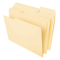 Universal UNV16420 Heavyweight Legal Size File Folder - Standard Height with 1/3 Cut Assorted Tab, Manila - 50/Pack