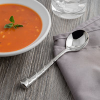 Reed & Barton RB111-016 Captiva 6 1/8 inch 18/10 Stainless Steel Extra Heavy Weight Bouillon Spoon - 12/Case