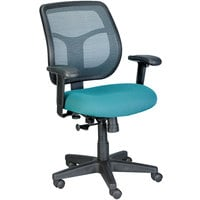 Eurotech Seating MT9400-5880 Apollo Green Dove Fabric / Mesh Mid Back Swivel Tilt Office Chair