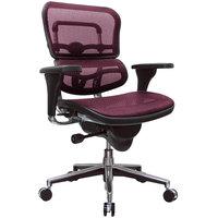 Eurotech Seating ME8ERGLO-KM12 Ergohuman Plum Red Mesh Mid Back Swivel Office Chair