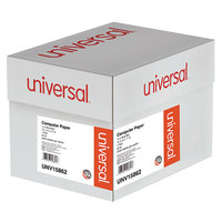 Universal UNV15862 11 inch x 14 7/8 inch Blue Bar Case of 20# Perforated Continuous Print Computer Paper - 2400/Sheets