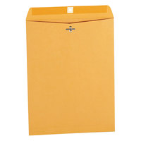 Universal UNV42907 #93 9 1/2 inch x 12 1/2 inch Kraft Clasp / Gummed Seal File Envelope - 100/Box