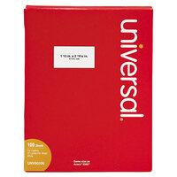 Universal UNV90106 1 1/2 inch x 2 13/16 inch Bright White Copier Mailing Address Labels   - 2100/Box