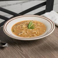 Tuxton TBS-003 Bahamas 9 oz. Brown Speckle Rim China Soup Bowl - 24/Case