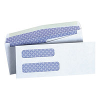 Universal UNV36300 #8 5/8 White 3 5/8 inch x 8 5/8 inch Side Seam Security Business Envelope with Double Windows - 500/Box