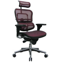 Eurotech Seating ME7ERG-KM12 Ergohuman Plum Mesh High Back Swivel Office Chair