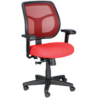 Eurotech Seating MT9400-5876 Apollo Red Dove Fabric / Mesh Mid Back Swivel Tilt Office Chair