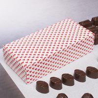 7 1/8 inch x 3 3/8 inch x 1 7/8 inch 1-Piece 1 lb. Valentine's Day Heart Candy Box - 250/Case