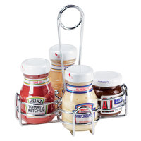 Clipper Mill by GET 4-221623 6 1/2 inch x 6 1/2 inch Chrome Metal 4-Compartment Condiment Caddy