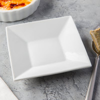 Core 5 inch Square Bright White Porcelain Saucer - 36/Case