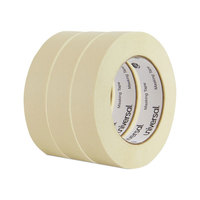 Universal UNV51301 1 inch x 60 Yards General Purpose Masking Tape - 3/Pack