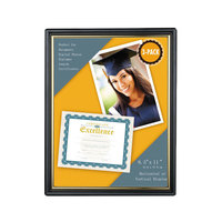 Universal UNV76849 8 1/2 inch x 11 inch Black Plastic Easy Mount Frame - 3/Pack