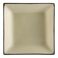 CAC 6-S21-W Japanese Style 11 1/2 inch Square China Plate - Creamy White - 12 / Case