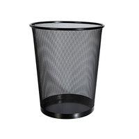 Universal UNV20008 18 Qt. Black Mesh Metal Wastebasket