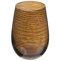 Stolzle S3527512T Twister 16.5 oz. Brown Stemless Wine Glass / Tumbler - 24/Case