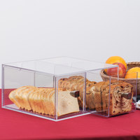 Cal-Mil 1480 Eco Modern Two Drawer Acrylic Bread Box for 1279 Bread Case - 12 inch x 12 inch x 6 inch