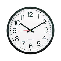 Universal UNV10431 12 5/8 inch Black Wall Clock