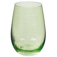 Stolzle S3527212T Twister 16.5 oz. Green Stemless Wine Glass / Tumbler - 24/Case