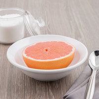 World Tableware BW-1131 Basics 10 oz. Bright White Porcelain Grapefruit Bowl - 36/Case