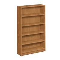 HON 1875C 1870 Series Harvest 5 Shelf Laminate Wood Bookcase - 36 inch x 11 1/2 inch x 60 1/8 inch