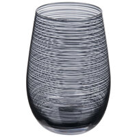 Stolzle S3527812T Twister 16.5 oz. Smoky Grey Stemless Wine Glass / Tumbler - 6/Pack