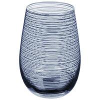 Stolzle S3527912T Twister 16.5 oz. Smoky Blue Stemless Wine Glass / Tumbler - 24/Case