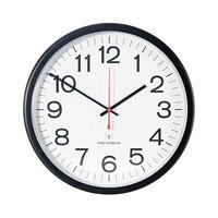 Universal UNV10417 13 1/2 inch Black Deluxe Indoor / Outdoor Atomic Clock