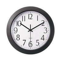 Universal UNV10451 12 inch Black Whisper Quiet Clock