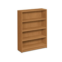 HON 1874C 1870 Series Harvest 4 Shelf Laminate Wood Bookcase - 36 inch x 11 1/2 inch x 48 3/4 inch