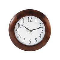 Universal UNV10414 12 3/4 inch Cherry Wood Wall Clock